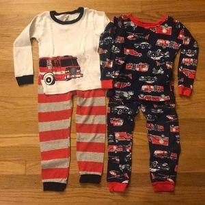 Emergency vehicles pajamas